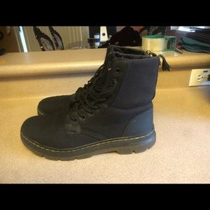 Doc Martens COMBS Nylon Black 8-Eye Boot Combat